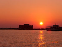 Sunset at Paphos Fort